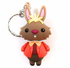 Disney ALICE IN WONDERLAND 3D Figural Keyring Series MARCH HARE KEYCHAIN New