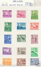 Mauritius stamp  1950 collection 1c - 10R   LM on sheet