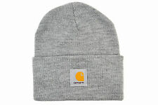 CARHARTT ACRYLIC WATCH BEANIE OSFM HEATHER GREY WIP AUTHENTIC IMPORTED FROM USA