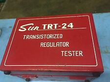 SUN ELECTRIC TRT-24 VINTAGE SUN ELECTRIC TRANSISTORIZED REGULATOR TESTER