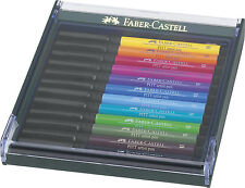 FABER CASTELL INCHIOSTRO DI CHINA PENNA Pitt ARTIST PEN BRUSH 12er ASTUCCIO BASIC