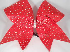 Red Crystal AB Scattered Rhinestone rhineststones Cheer Bow BlingItOnCheerBows
