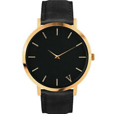 Men Women dress Watches Leather Band Analog Quartz Wrist Watch Casual