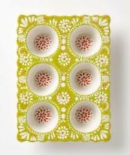 Sold OuT Rare  Anthropologie Folk Flora Stoneware Bakeware Muffin Pan