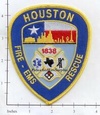 Texas - Houston Fire EMS Rescue TX Fire Dept Patch v