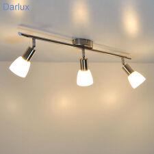 Deckenleuchte Briloner ALFA Stahl Glas weiß Deckenlampe, LED möglich, 3-flammig