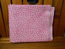 Fabric 1 Yard Crazy Daisy White Flower Blue Center Pink Quilting Cotton