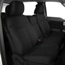 KATZKIN BLACK LEATHER SEAT COVERS 2013 2014 FORD F 150 SUPER CREW XLT