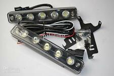 High Power 1W Each 5 LED Car Daylight Day Time Daytime Running Light DRL Black