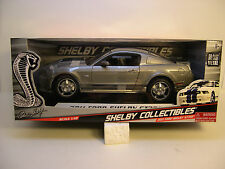 SHELBY COLLECTIBLES 1:18 SCALE DIECAST METAL GUN METAL GRAY 2011 SHELBY GT350