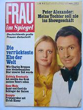 Frau im Spiegel 6/1975, Charles Bronson, Romy Schneider, Burton / Taylor,