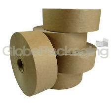 2 x ROLLS OF PLAIN STRONG GUMMED PAPER WATER ACTIVATED TAPE 48mm x 200M, 60GSM