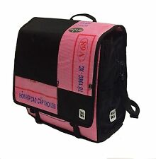Koki UP1 Urban Bike Bag Cycling Tote Pink & Black Recycled Materials Pannier NEW