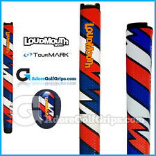 TourMARK Loudmouth Captain Thunderbolt Midsize Putter Grip - Blue White Red