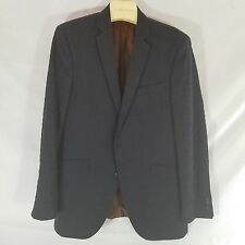 Ben ShermanCharcoal Gray Navy Blue Check Sports Coat Blazer 42L