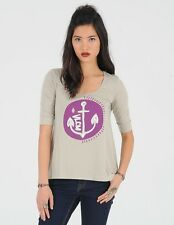 NEW VOLCOM SURF WOMEN ANCHOR DROP 1/2 SLEEVE TEE CAMI TOP SHIRT SMALL code ii160