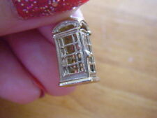 Vintage LARGE 9KT SOLID 9CT GOLD OPENING OPENS TELEPHONE BOX  charm  3.3 grams