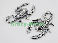 Motorcycle Chrome Metal 3D Scorpion Decal Sticker Tank Emblem Badg For Kawasaki