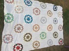 Antique Large NEW ENGLAND Patchwork Quilt Top, Mass, Crafts, Hand Sewn, GIFT