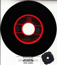 """DICKEY LEE Patches & MARK DINNING Teen Angel 7"""" 45 record + juke box strip NEW"""