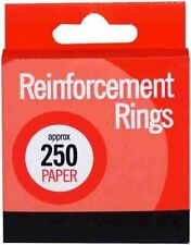 Pack of 250 Club White Paper Reinforcement Rings Reinforcers for Filing Holes