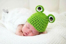 Winter Warm Green Frog Baby Knit Crochet Beanie Hat Fit Photo Photography Props