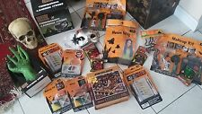 NIP NWT HUGE Halloween lot gifts makeup, puzzle, mask, wig, thunder strobe light