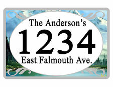 Personalized ADDRESS Sign YOUR NAME Weather Proof Aluminum SIGN FULL COLOR Mount