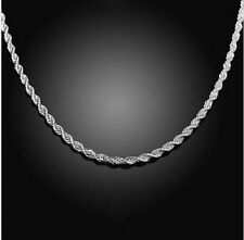 925 Sterling Silver Fashion Jewelry Diamond Cut 2 mm Necklace-18,20,22 in Chain.