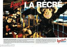 PUBLICITE ADVERTISING 126  1986   SNCF  train ( 2pages) voyages famille