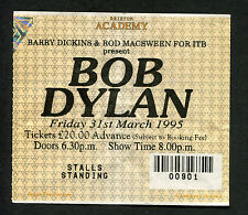 Bob Dylan 1995 Concert Ticket Stub Brixton Academy London World Gone Wrong