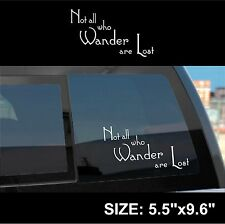 Not All Who Wander Are Lost: Decal