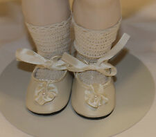 "German style shoes 4 antique bisque or vintage composition doll 3"" long sz4"