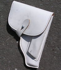 DDR NVA EAST GERMAN ARMY POLICE WHITE LEATHER MAKAROV PISTOL HOLSTER 1970/80s