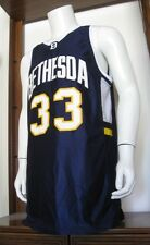 42 Mens Wilson #33 Bethesda Basketball Jersey Navy Blue White Yellow EuC