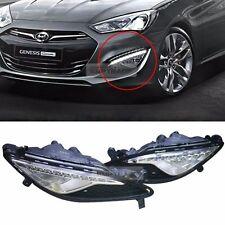 Genuine Parts LED DRL Fog Light Lamp Cover Set For HYUNDAI 13-2016 Genesis Coupe