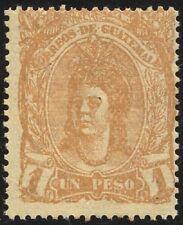 Guatemala - 1878 - 1 peso giallo - nuovo - MNH - Yvert n.14