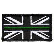 AMBULANCE UNION JACK PATCH / BADGE THIN GREEN LINE SEW ON PARAMEDIC DOCTOR SMALL