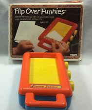 Vintage TOMY Flip Over Funnies Crayon Rubbing Pictures Crazy Characters w/Box