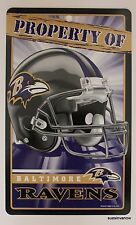 New NFL Licensed Baltimore Ravens Property Sign Plastic Decor Football League