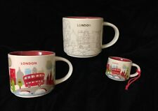 Starbucks London Mug Ornament Set YAH Christmas Big Ben Cup Holiday You Are Here