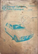 TRIUMPH DOLOMITE 1850 ( 1972 - 1973 ) ORIGINAL FACTORY PARTS CATALOGUE