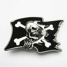 Pirate Skull Flag Belt Buckle Gürtelschnalle Boucle de ceinture