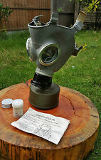 Polish Gas Mask MC-1 Size 2 Filter MS-4 Instruction Disinfecting Cloth Haversack