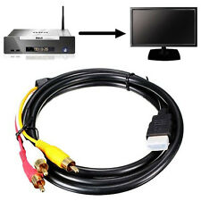 5Ft 1.5M HDMI To 3-RCA Video Audio AV Component Adapter Converter Cable For HDTV