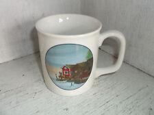 Ljung Souvenir Tyringe Sweden Boat Dock Homes Scene Coffee Mug Cup