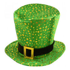 St Patrick's Day Novelty Fancy Dress Leprechaun Shamrock Pattern Hat