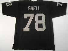 Oakland Raiders Art Shell UNSIGNED CUSTOM Black Jersey - XL