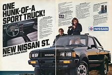 1983 Nissan ST 4x4 One Hunk of a Sport Pickup Truck 2 Page Print Ad