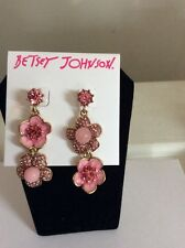 $40 Memoirs Of Betsey Johnson Collection Flower Drop Earrings